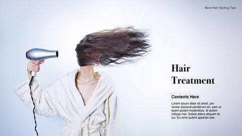 Best Hair Styling Tips Theme Keynote Design_15