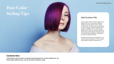 Best Hair Styling Tips Theme Keynote Design_16