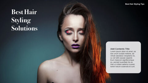 Best Hair Styling Tips Theme Keynote Design_18