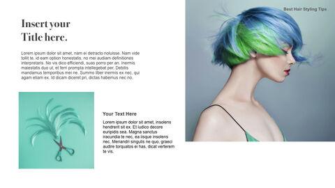 Best Hair Styling Tips Theme Keynote Design_24