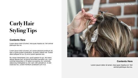 Best Hair Styling Tips Theme Keynote Design_26