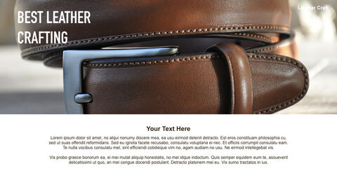 What Is The Best Leather Crafting Keynote PowerPoint_03