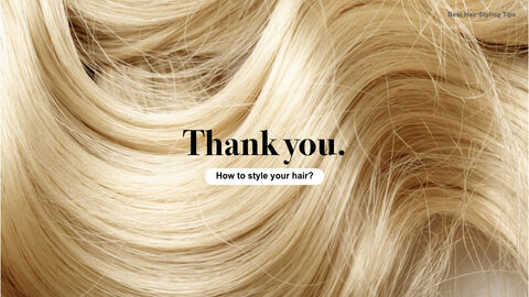 Best Hair Styling Tips Theme Keynote Design_40