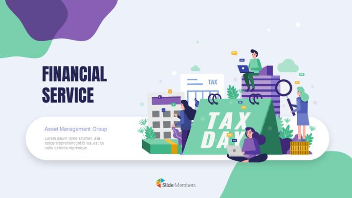 금융 서비스 그룹 디자인 슬라이드 심플한 구글슬라이드_01