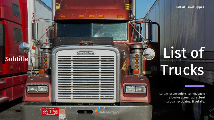 List of Trucks Best Google Slides_01