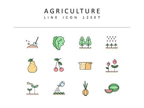 농업 벡터 아이콘 세트_03