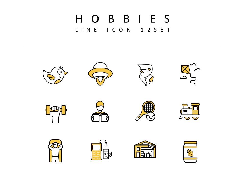Hobbies Icons Vectors