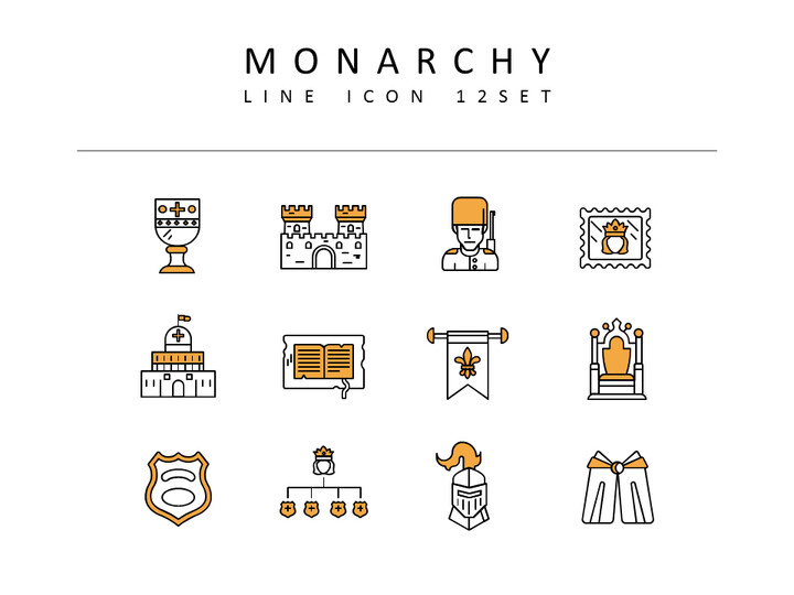 Monarchy Icons Set Vector_02