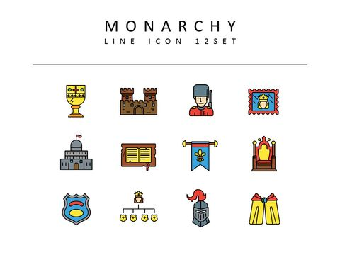 Monarchy Icons Set Vector_03