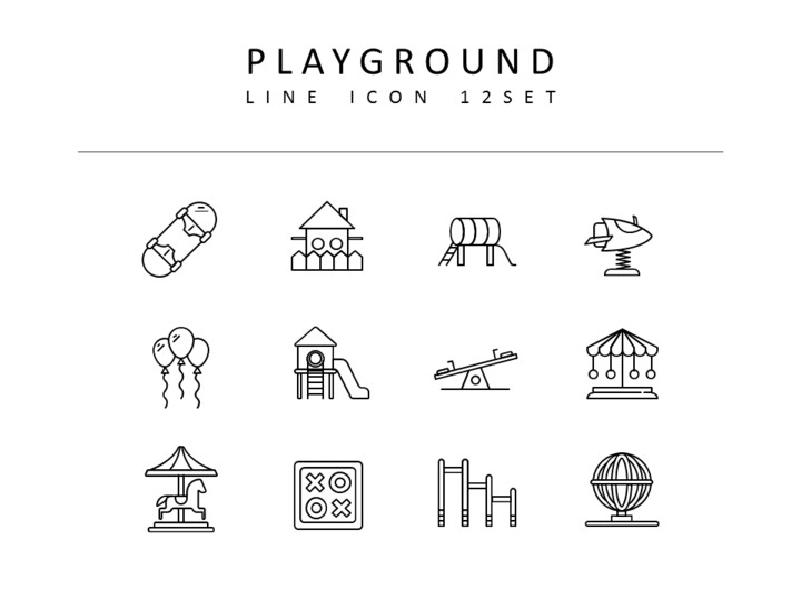 Playground Icons Set Vector_01