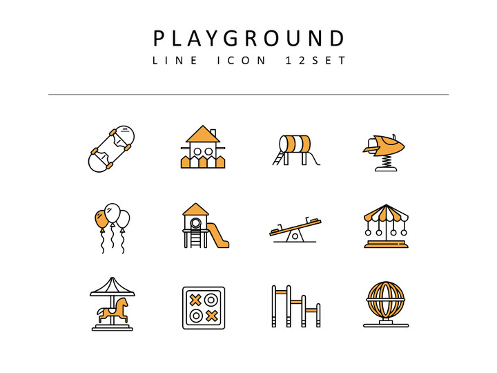 Playground Icons Set Vector_02
