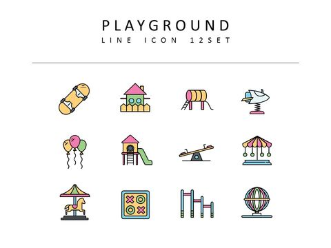 Playground Icons Set Vector_03