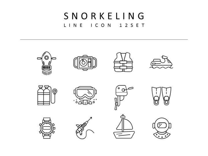 Snorkeling Vector Icons Set_01