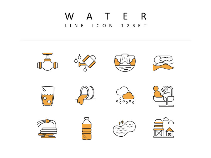 water Icons Set Vector_02