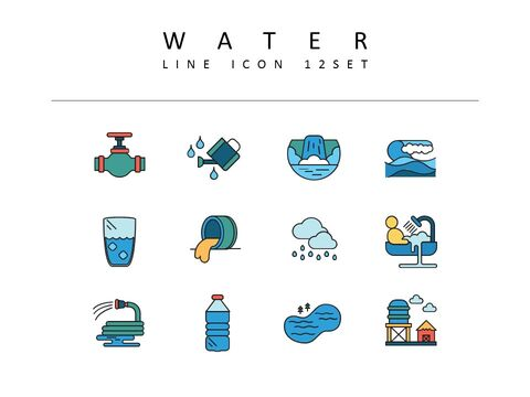 water Icons Set Vector_03