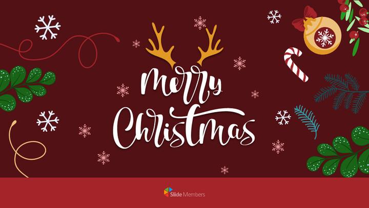 Christmas Illustration Google Slides_01