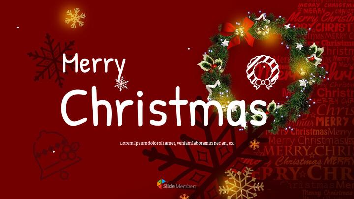 메리 크리스마스 편집이 쉬운 Google 슬라이드_01