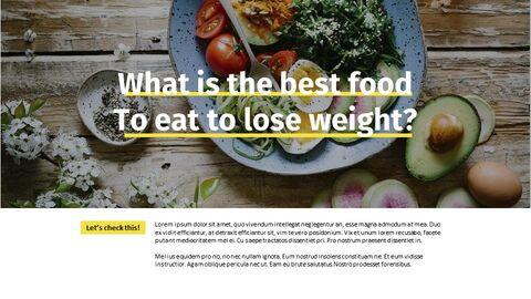 다이어트 음식 Google 프레젠테이션 슬라이드_04