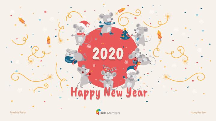 2020 해피뉴이어 (신년,새해) 모던한 PPT 템플릿_01