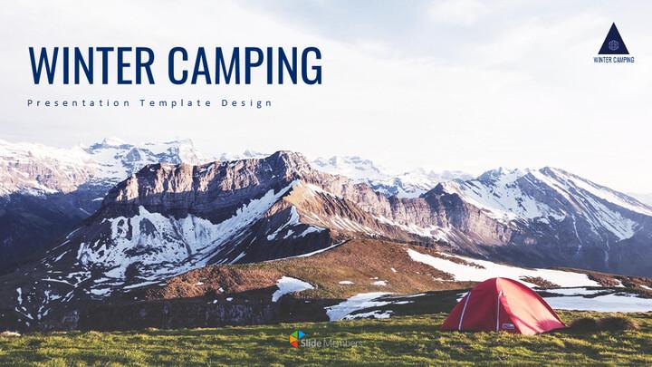 겨울 캠핑 테마 Google 슬라이드_01