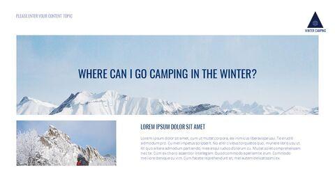겨울 캠핑 테마 Google 슬라이드_02