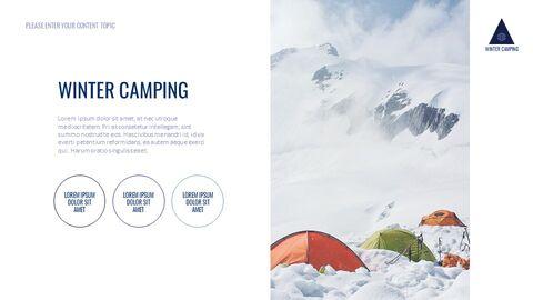 겨울 캠핑 테마 Google 슬라이드_03