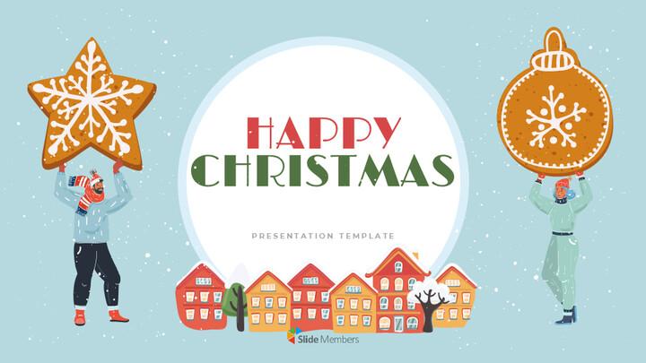 행복한 크리스마스 편집이 쉬운 구글 슬라이드 템플릿_01