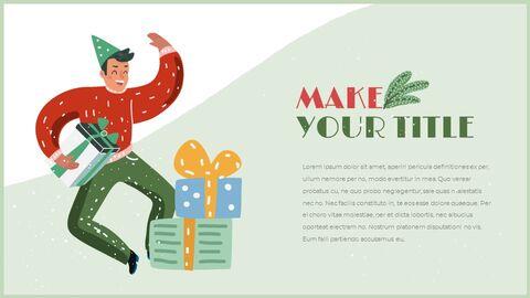 행복한 크리스마스 편집이 쉬운 구글 슬라이드 템플릿_02