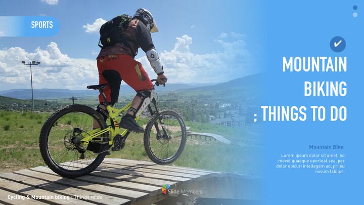 산악 자전거 크리에이티브 키노트 템플릿_01