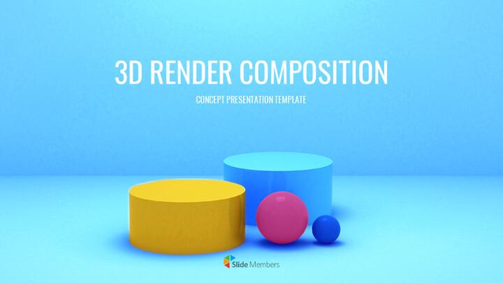 3D 렌더링 구성 프레젠테이션 템플릿_01