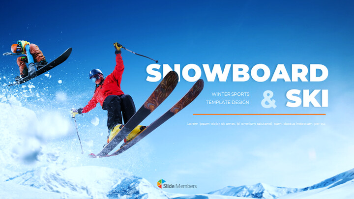 스노우 보드 & 스키 프레젠테이션 템플릿_01