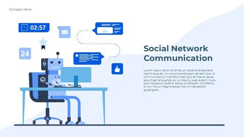 Social Network Communication Best Google Slides_03