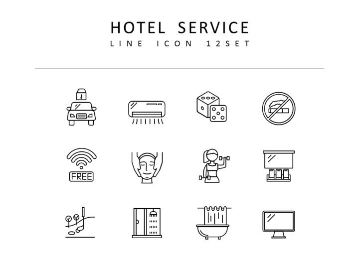 호텔 서비스 디자이너를 위한 아이콘 리소스_01