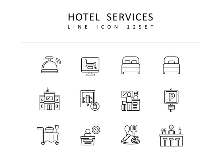 호텔 서비스 벡터 아이콘 세트_01