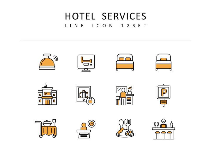 호텔 서비스 벡터 아이콘 세트_02