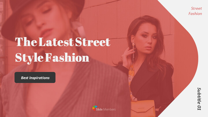 The Latest Street Style Fashion Google Slides Template Diagrams Design_01