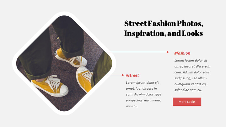 최신 스트리트 스타일 패션 Google 슬라이드 템플릿 다이어그램 디자인_02