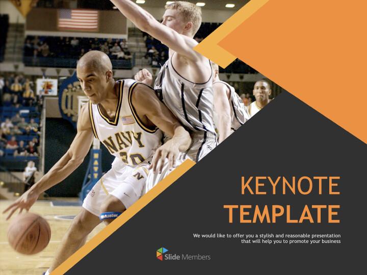 무료 Keynote 템플릿 - 농구 게임_01