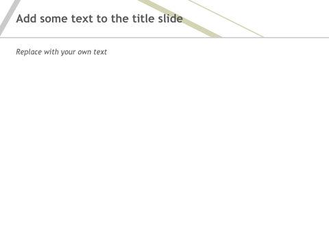 Free 프레젠테이션 템플릿 - 서로에 걸쳐 올리브 녹색 회색 선_05