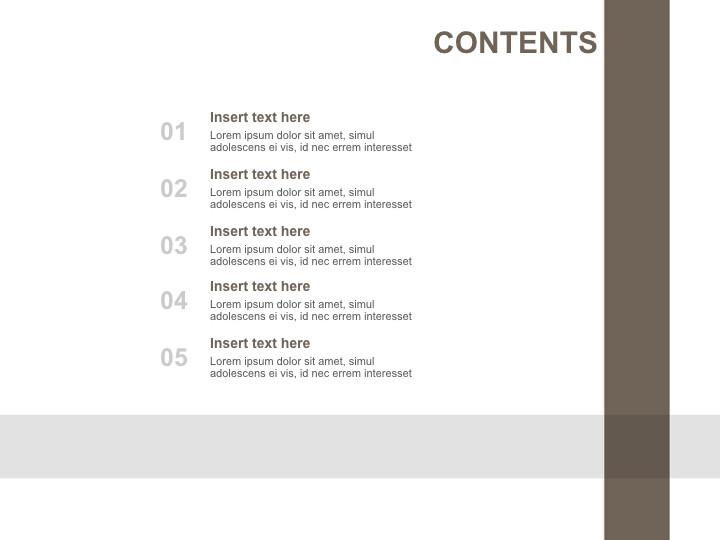 Free 프레젠테이션 템플릿 - 갈색과 회색으로 체크 무늬 라인_02