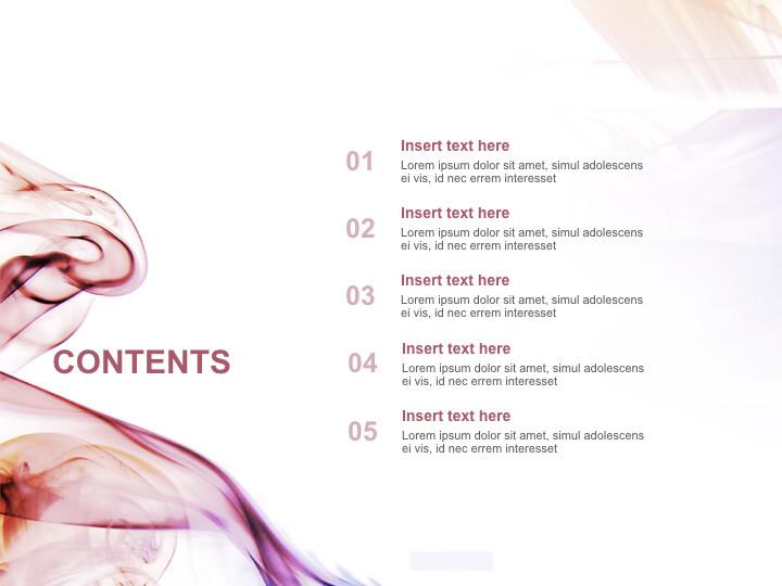 Free 프레젠테이션 템플릿 - 분홍색과 보라색 파도_02