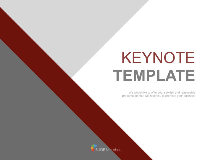Keynote Template Free Download Gray Dark Red Triangle