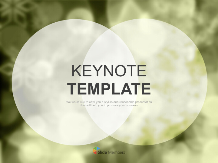 Olive-green Background With Overlapped Circles - Keynote Images Free Download_01