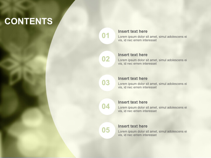 Olive-green Background With Overlapped Circles - Keynote Images Free Download_02