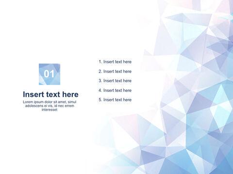 Free 프레젠테이션 템플릿 - 바다 같은 색의 반짝이는 삼각형_03