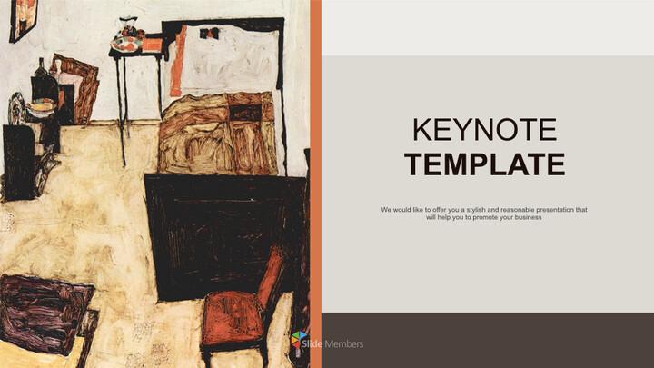 Free 프레젠테이션 템플릿 - Egon Schiele & lt; Neulengbach의 실레_01