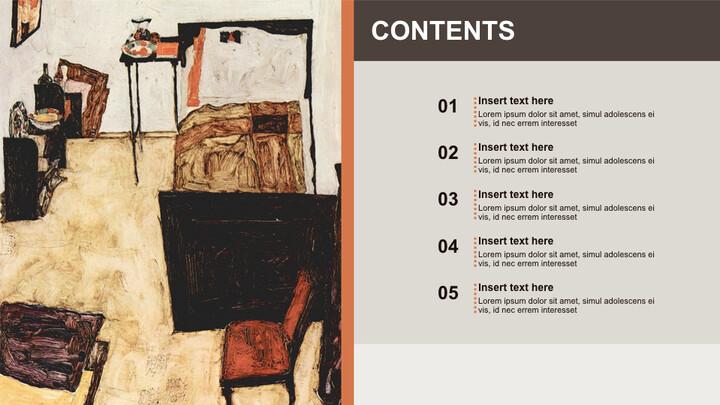 Free 프레젠테이션 템플릿 - Egon Schiele & lt; Neulengbach의 실레_02