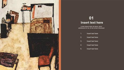Free 프레젠테이션 템플릿 - Egon Schiele & lt; Neulengbach의 실레_03