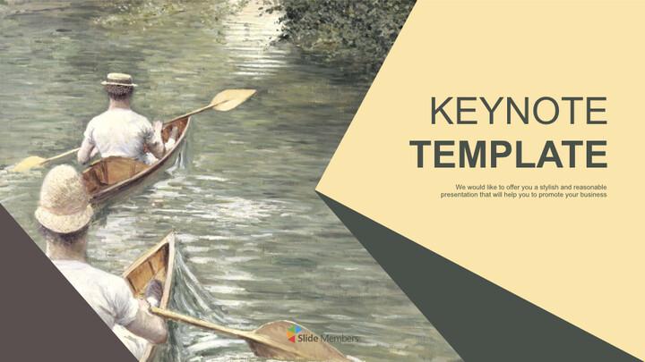 Gustave Caillebotte & lt; 레 페리 소르> - 무료 키노트 템플릿_01