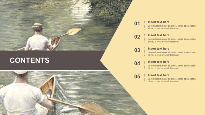 Gustave Caillebotte & lt; 레 페리 소르> - 무료 키노트 템플릿_02